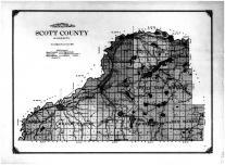 Scott County Topographical Map, Scott County 1913
